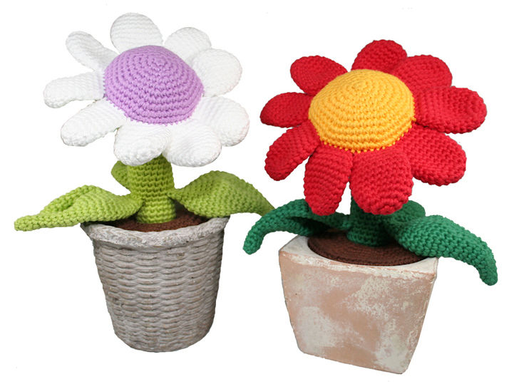 Flower - Potted Plant - Crochet Pattern at Makerist - Image 1