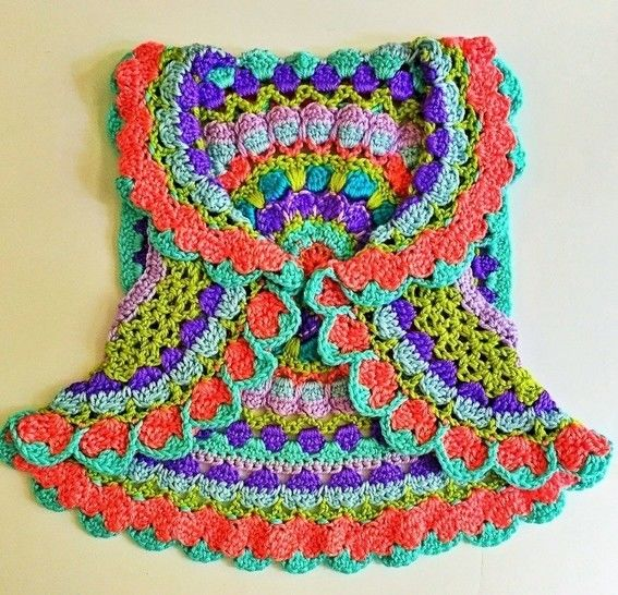 Rainbow Sherbet Girls Sweater Vest at Makerist - Image 1