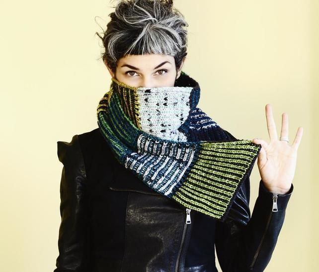 Modular 2 color Brioche Scarf - PDF knitting pattern at Makerist - Image 1