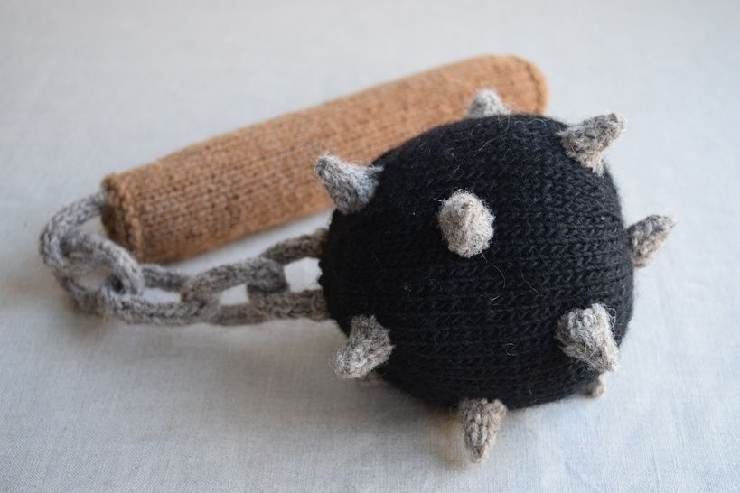 Ball and Chain Flail PDF Knitting Pattern - Medieval weapon at Makerist - Image 1