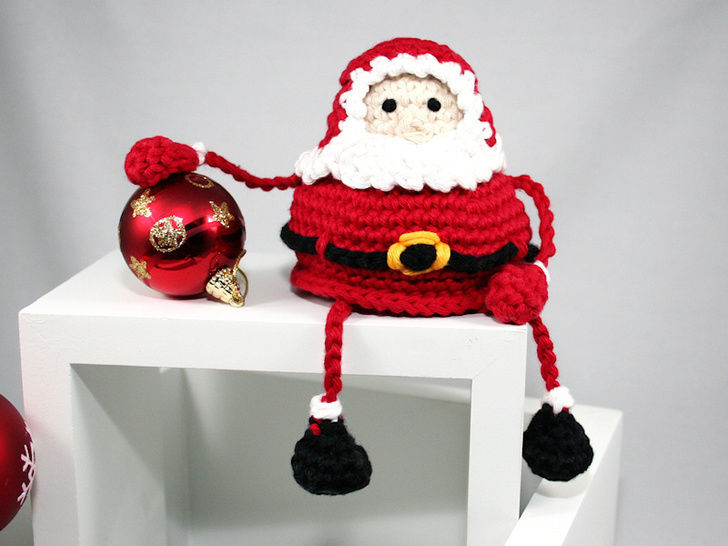 Santa - Shelf Sitter - Crochet Pattern at Makerist - Image 1