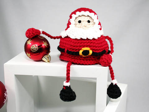 Santa - Shelf Sitter - Crochet Pattern