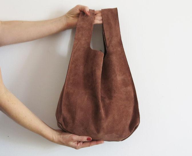 Einkaufstasche aus Leder oder Kunstleder bei Makerist - Bild 1