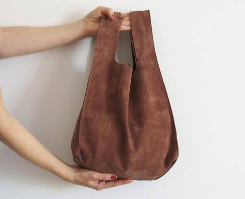 Einkaufstasche aus Leder oder Kunstleder bei Makerist