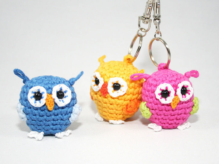 Owl - Key Chain - Crochet Pattern at Makerist - Image 1