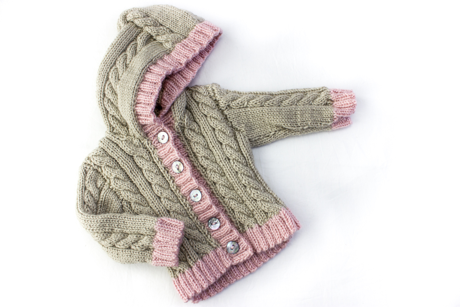 KNITTING PATTERN, Cable Cardigan, Optional Hood , 6 Sizes, Instant Download Pattern, Baby, Toddler, Kids Sizes, Unisex Cable Cardigan