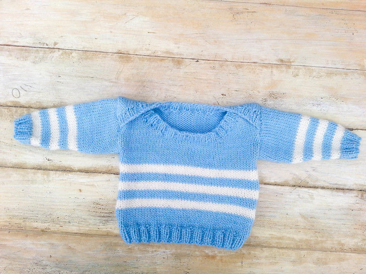 KNITTING PATTERN, Envelope Neck Sweater, 6 Sizes, Baby, Toddler, Kids Sizes, PDF, Easy Kids Pattern, Practical Sweater, Boat Neck Sweater at Makerist - Image 1