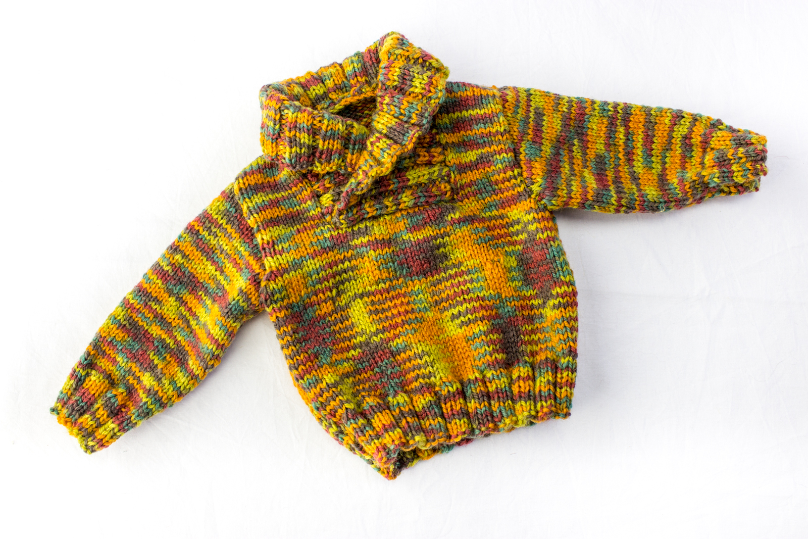 KNITTING PATTERN, Shawl Collar Sweater, 6 Sizes, Baby, Toddler, Kids Sizes
