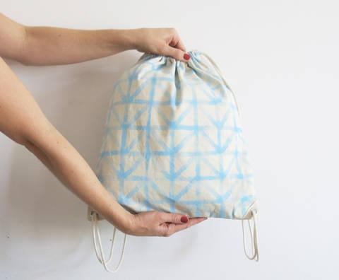 Einfacher Turnbeutel oder Rucksack