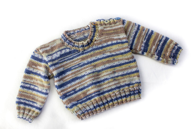 KNITTING PATTERN, Shoulder Buttoned Sweater, 6 Sizes, Baby, Toddler, Kids Sizes, PDF, Easy Kids Pattern, Stylish Boy's Buttoned Sweater at Makerist - Image 1