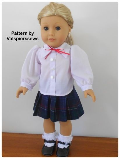 "1802 Valspierssews Doll Clothes Pattern Fits Popular 18"" Dolls at Makerist - Image 1"