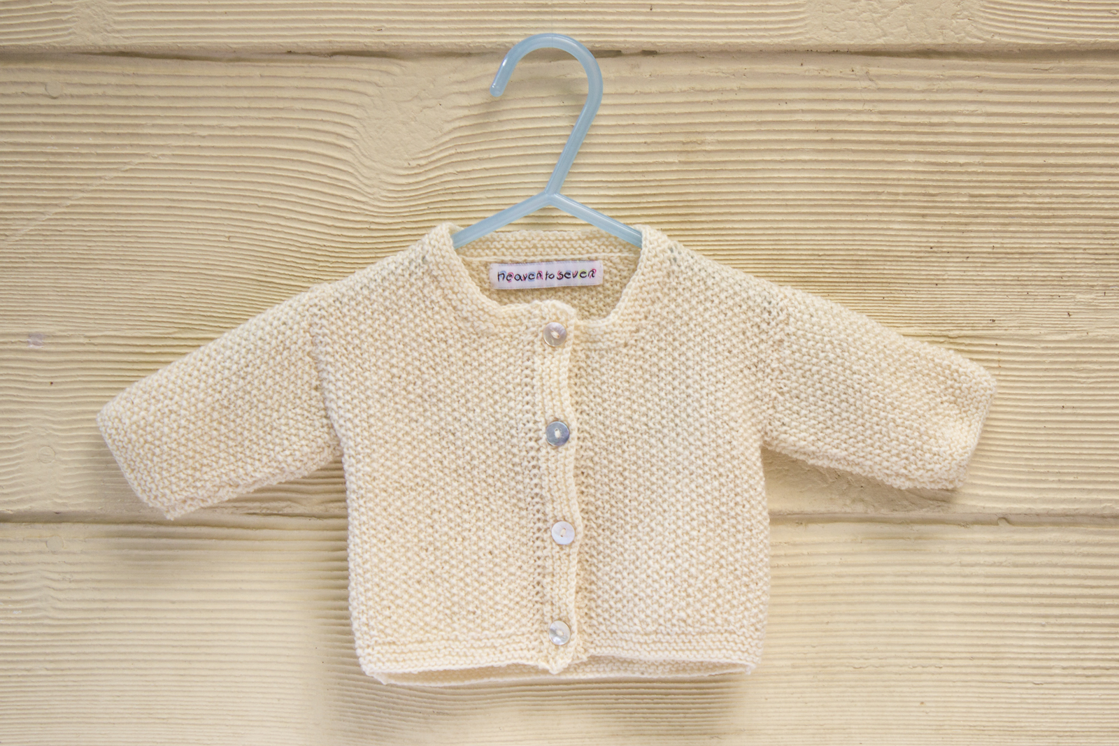 KNITTING PATTERN , Baby Cardigan with Button Closure, Essential Classic Moss Stitch In 4 Sizes