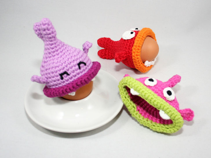 Egg Cozies - Hungry Fishes - Crochet Pattern at Makerist - Image 1