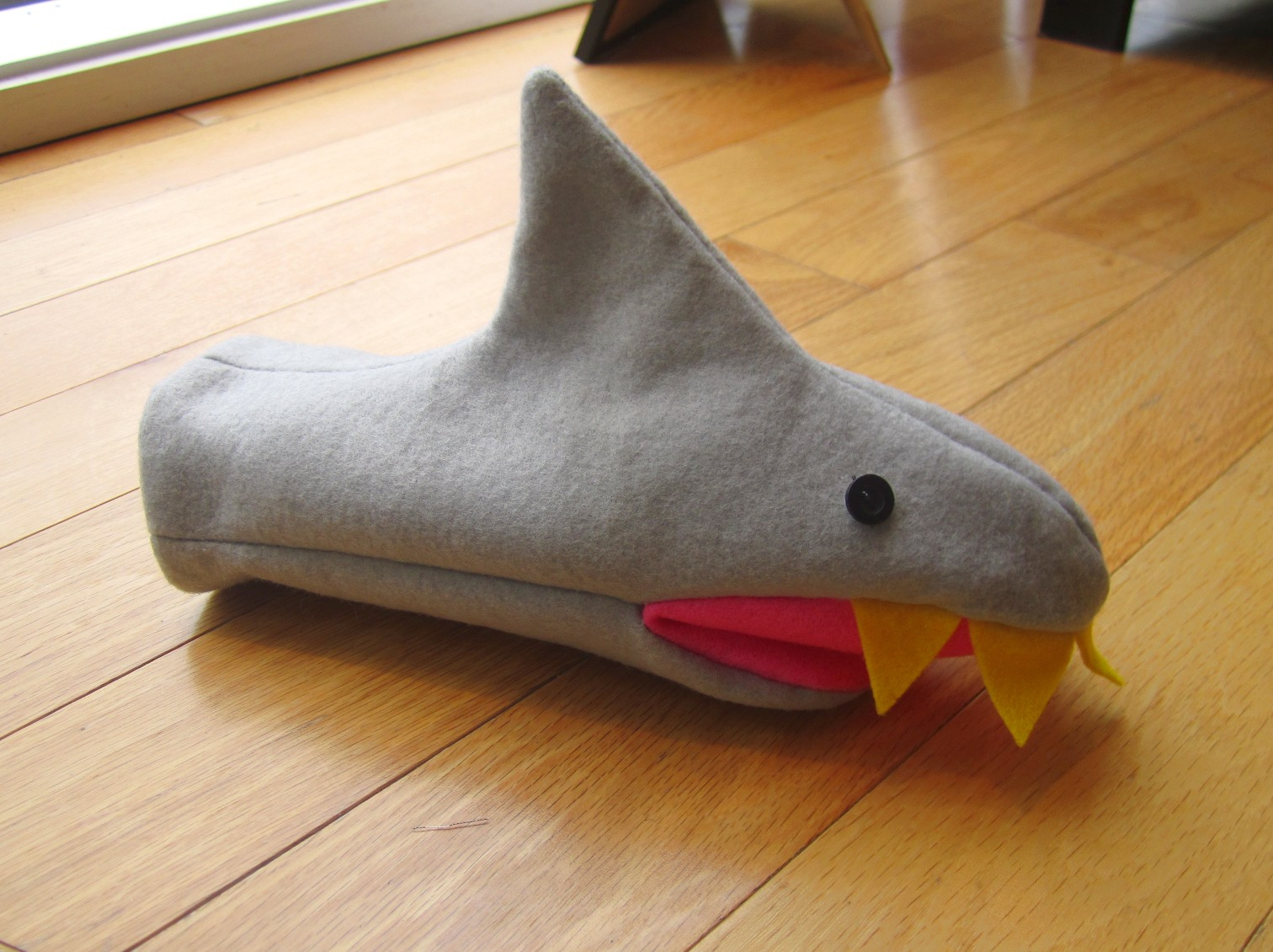 Shark Puppet or Mittens Sewing Pattern PDF