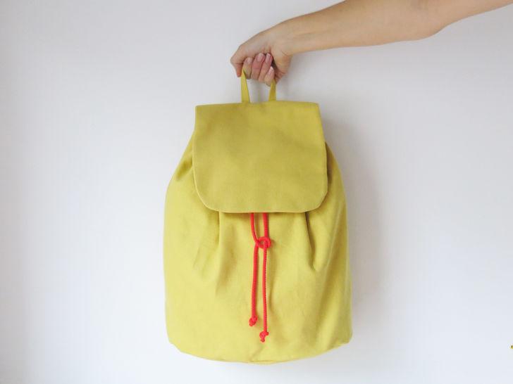 Minimalistischer Rucksack No. 3 mit Kordelzug und verstellbaren Träger bei Makerist - Bild 1
