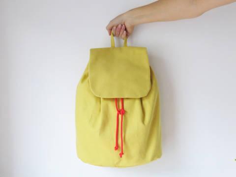 Minimalistischer Rucksack No. 3 mit Kordelzug und verstellbaren Träger