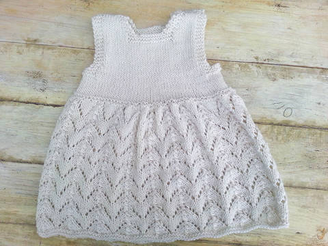 KNITTING PATTERN,Baby Lace Dress, Summer Baby Dress