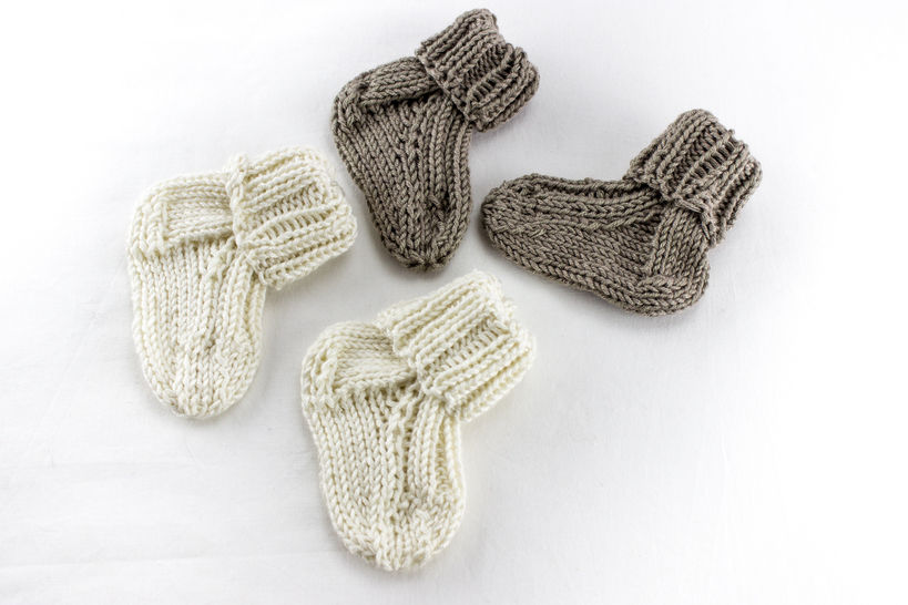 KNITTING PATTERN, Baby Socks ,Toddler Socks Pattern, Quick Baby Socks Knitting Pattern, Newborn Socks, Kids Sock Pattern at Makerist - Image 1