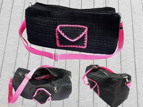 Handtasche Pink Night mit vielen Details – Häkelanleitung