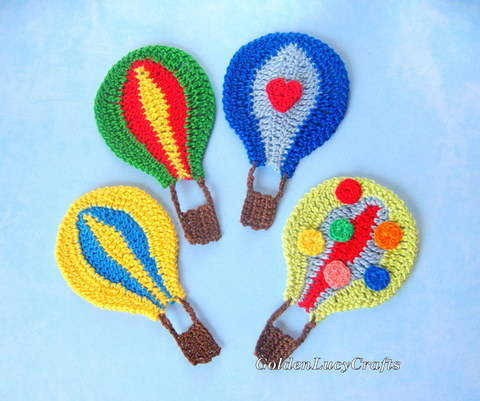 Hot Air Balloon Applique at Makerist