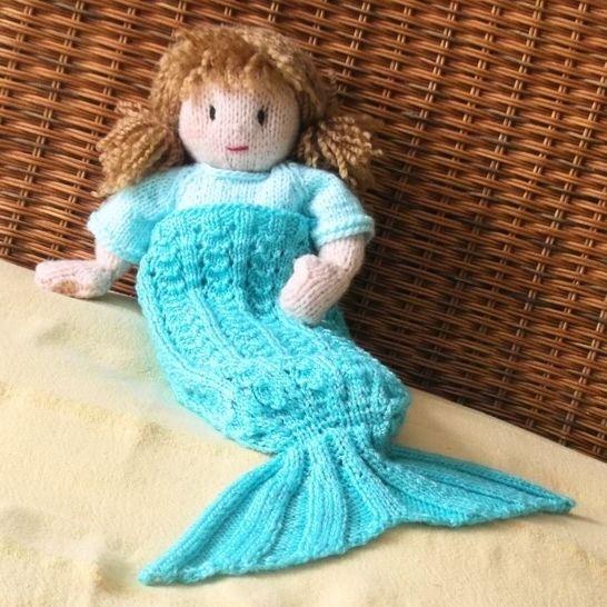 Splash! Dolls' Mermaid Blanket Knitting Pattern at Makerist - Image 1