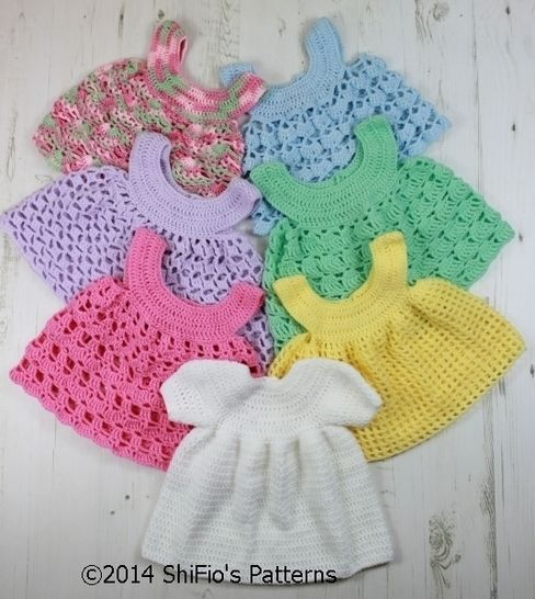 CP20 Baby Dress and 6 Aprons Baby Crochet Pattern #20 at Makerist - Image 1