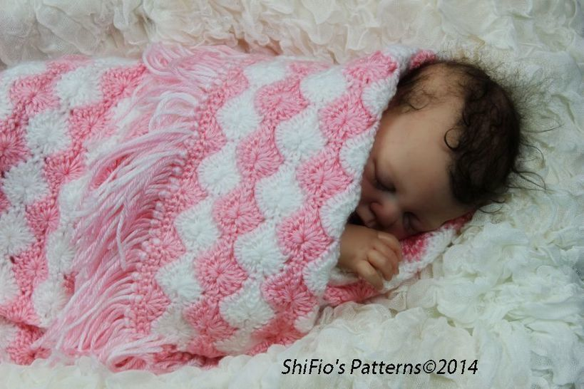CP37 Shelly Baby, Pram, Cot, Blanket, Afghan Baby Crochet Pattern #37 at Makerist - Image 1