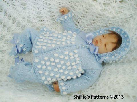KP54 Bobble Jacket, Bonnet/Hat, Trousers/Pants & Booties Baby Knitting pattern #54