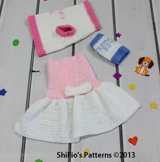 CP66 Dog Sweater & Dress in 4 sizes Crochet pattern #66 at Makerist - Image 1