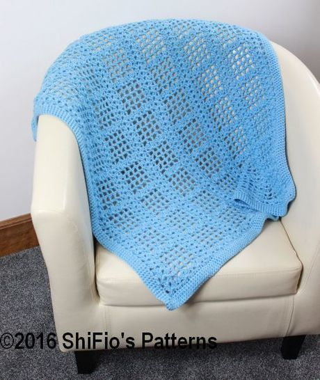 CP346  Baby Afghan Blanket Crochet Pattern #346 at Makerist - Image 1