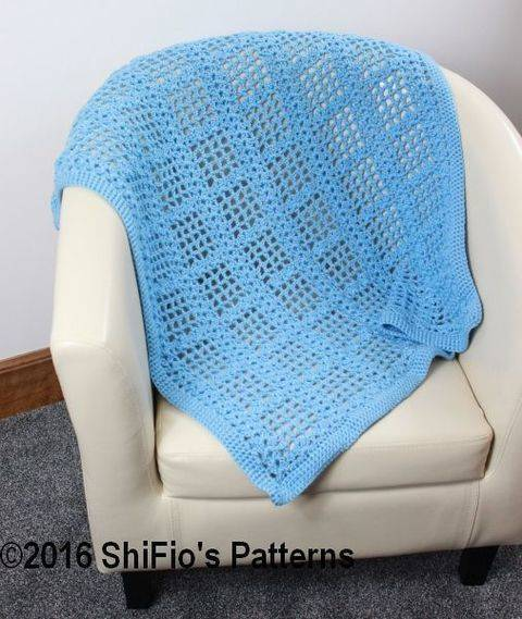 CP346  Baby Afghan Blanket Crochet Pattern #346 at Makerist