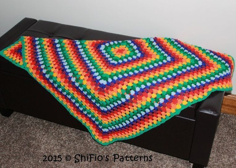 CP338 Granny Square Afghan Crochet pattern #338 at Makerist - Image 1