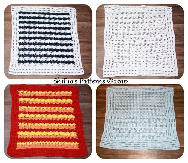 CP334  Baby Afghan Blanket Crochet Pattern #334 at Makerist - Image 1