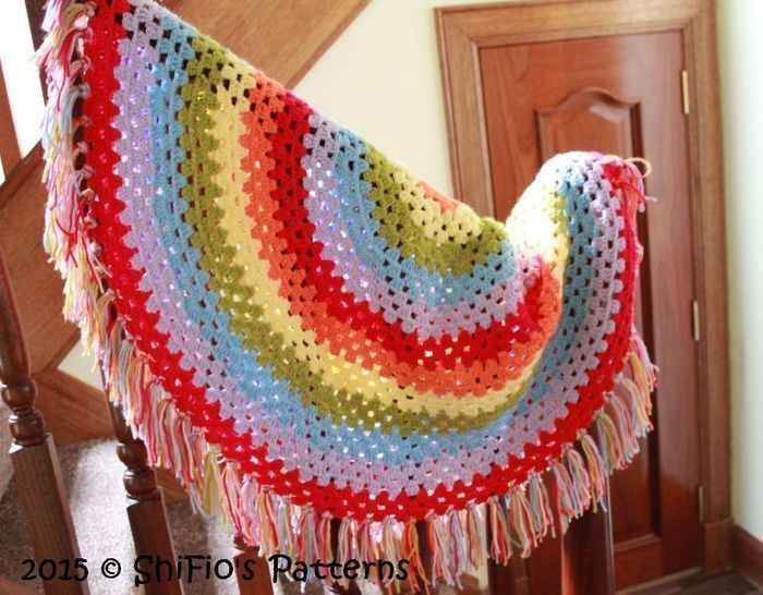 CP330 Granny Stitch Shawl, Afghan Crochet Pattern # 330 at Makerist - Image 1