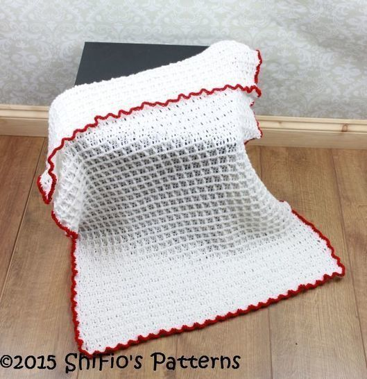 CP326 Waffle Stitch Baby Afghan Blanket Crochet Pattern #326 at Makerist - Image 1