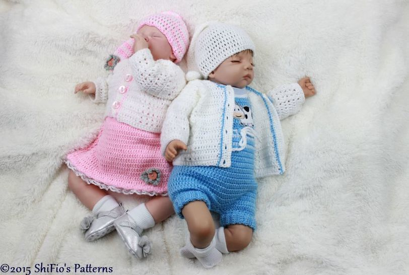 CP323 Baby Charlotte & George, Dress, Jacket, Romper, Hat Crochet Pattern #323 at Makerist - Image 1