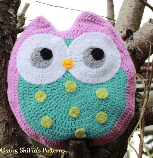 CP321 Worsted Aran, Animal Cushion, Pillow,Owl, Ollie Owl Crochet Pattern #321 at Makerist - Image 1