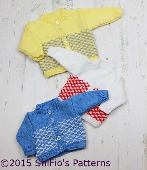 KP314 Royal Quilting Baby Cardigans in 3 Sizes Knitting Pattern #314 at Makerist - Image 1