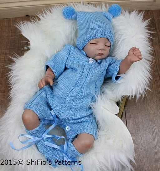 KP312 Boys Romper Suit, Onesie, 0-3mths,Baby Knitting Patterns, #312 at Makerist - Image 1