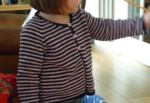 Gilet Malou une taille 4 ans - tricot