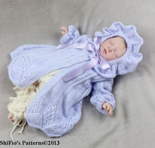 KP80  Forget Me Not Jacket, Pants & Hat Knitting pattern #80