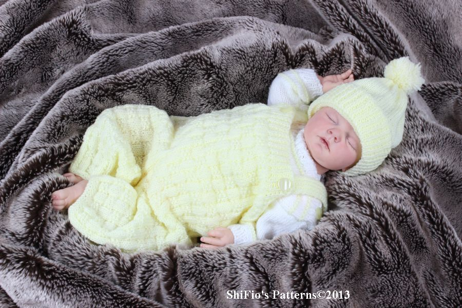 KP91 Dungarees, Jumper& Hat Baby Knitting Pattern #91