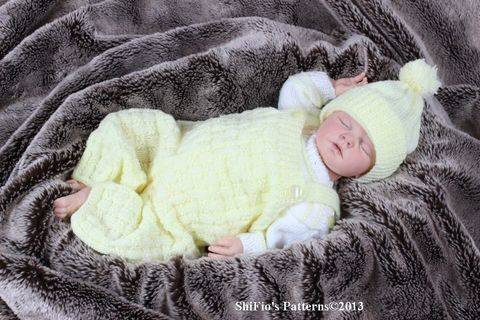 KP91 Dungarees, Jumper& Hat Baby Knitting Pattern #91 at Makerist