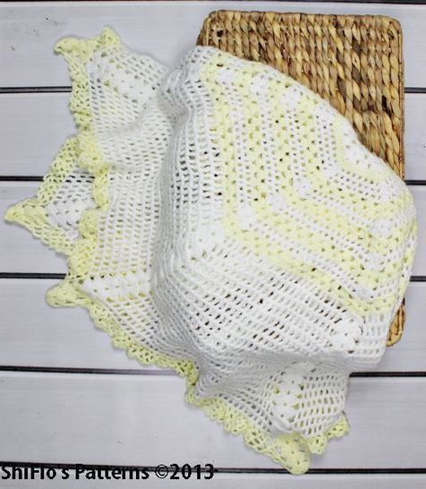 CP97 Cascade Christening Shawl, Blanket, Afghan Crochet Pattern #97 at Makerist - Image 1