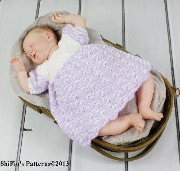 CP107 Baby Dress 5 Sizes 0-18months Crochet Pattern #107 at Makerist - Image 1