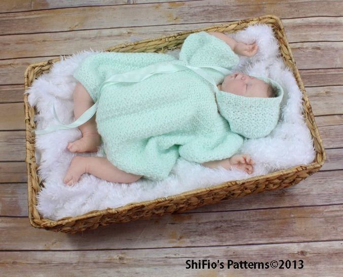 CP109  Boys Christening Romper, Onesie, Hat Crochet Pattern #109 at Makerist - Image 1