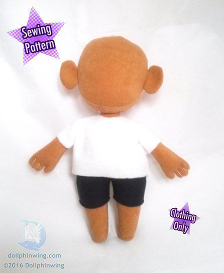 Little Doll Clothing Pattern Shirt Shorts and Pants at Makerist - Image 1