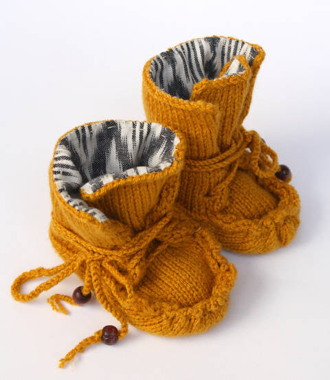 Knitted Moccasin Boots