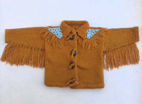 Baby Knitted Fringed Jacket