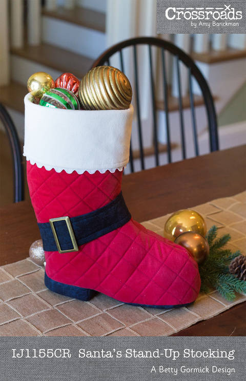 Santa's Stand-up Stocking at Makerist